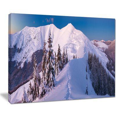 "DesignArt Frosty Winter Carpathians View Photographic Print on Wrapped Canvas Size: 30"" H x 40"" W x 1"" D"