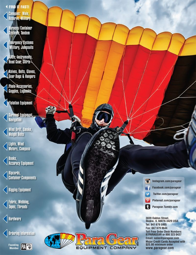 Congratulations To This Year S Para Gear Catalog 82 Back Cover