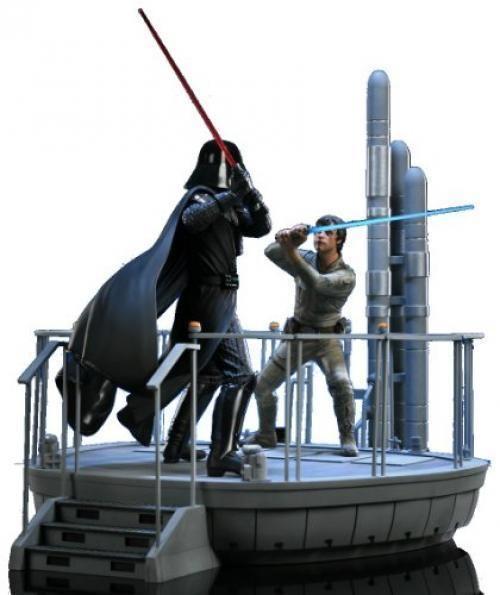 Star Wars Episode V Luke Skywalker vs Darth Vader Diorama Statue ...
