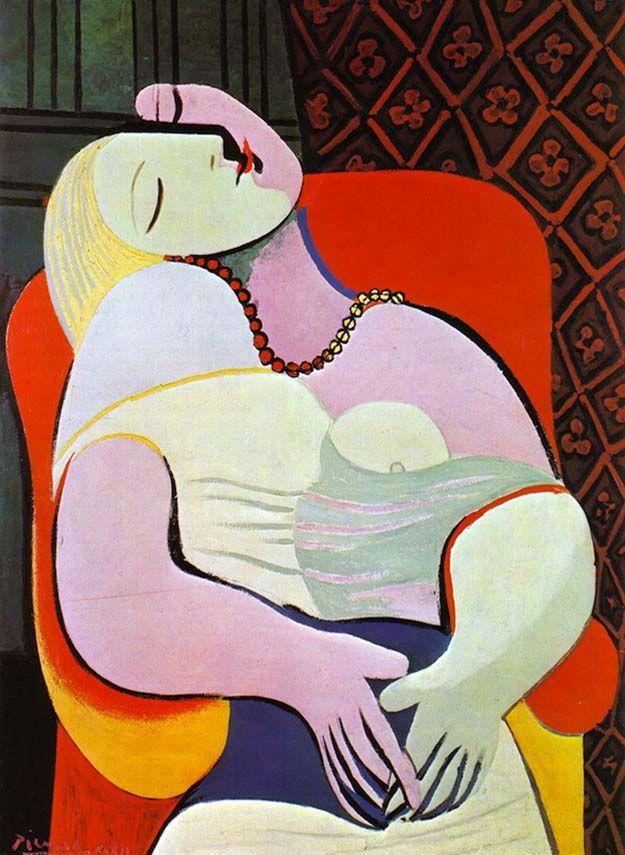 The Dream Pablo Picasso  Великое  Picasso Paintings -1496