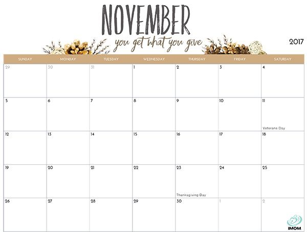 photo regarding November Printable Calendar referred to as 2019 Printable Calendar for Mothers Do-it-yourself Crafts November