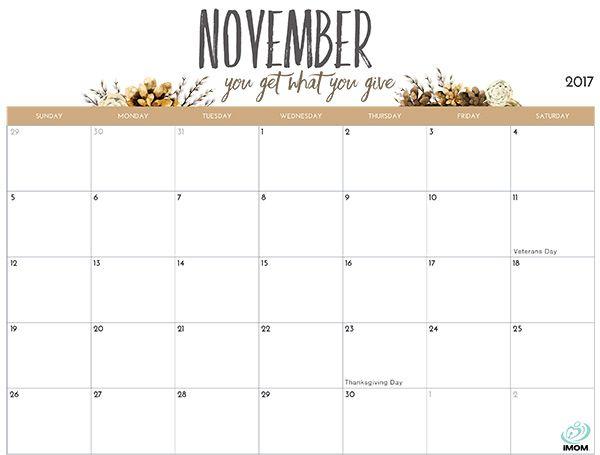 2017 Printable Calendar for Moms | Printable calendars, Planners ...