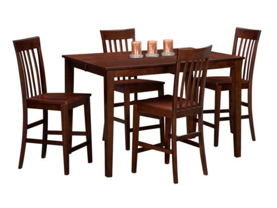 Arts & Crafts Chocolate Gathering 5Pc Dining Set  Value City Captivating Arts And Crafts Dining Room Set Review