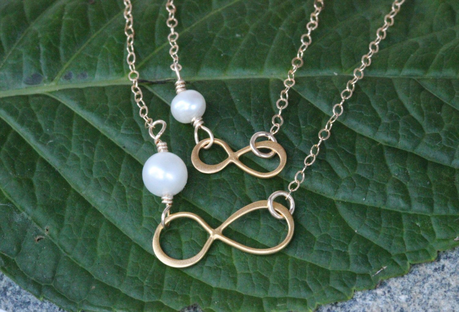 il gold fullxfull necklace daughter infinity mothers mother set listing heart jewelry