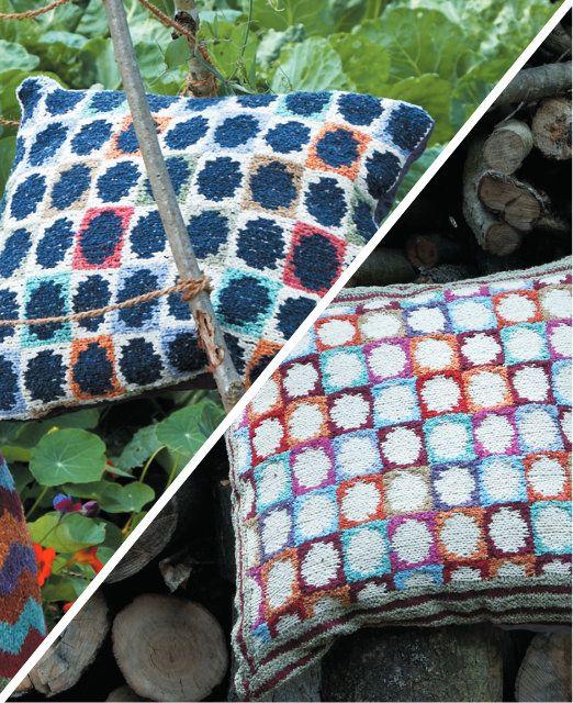 Free Knitting Pattern Spot Cushions By Kaffe Fassett In Rowan