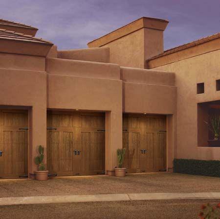 Adobe Style Clopay Canyon Ridge Collection Garage