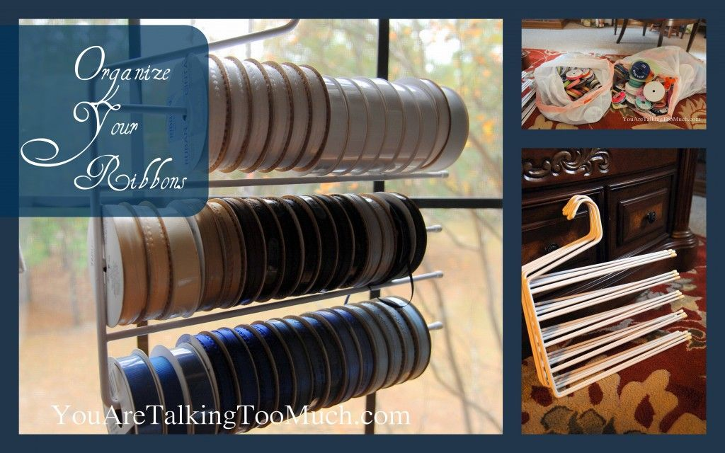 Easy way to organize ribbons at youaretalkingtoomuch.com, or bracelets?