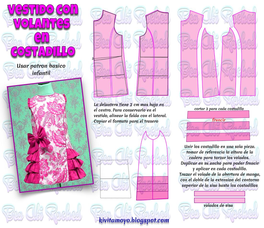 Blog de patronaje y diseño | Patrones Niñas | Vestidos, Ropa y ...