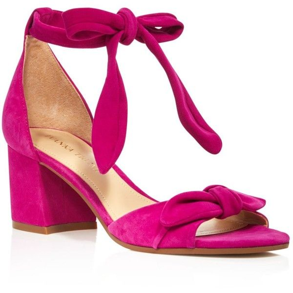 ($71) ❤ liked on Polyvore featuring shoes, sandals, heels, fuschia, polish  shoes, ankle strap sandals, ivanka trump shoes, fuchsia sandals ...