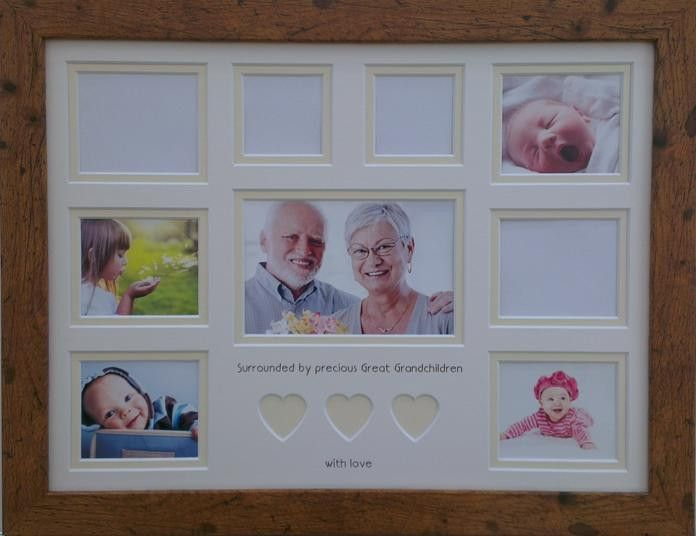 Surrounded By Precious Great Grandchildren Photo Frame 16 X 12