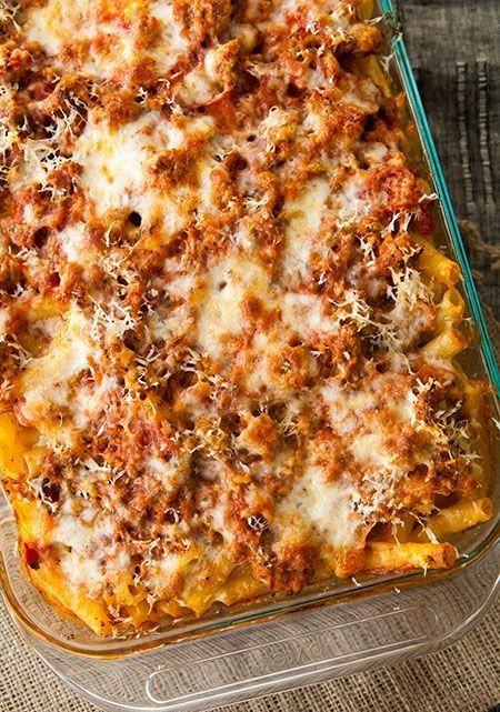 Baked ziti recipe dinner time pinterest fiestas for Ideas para cocinar pasta