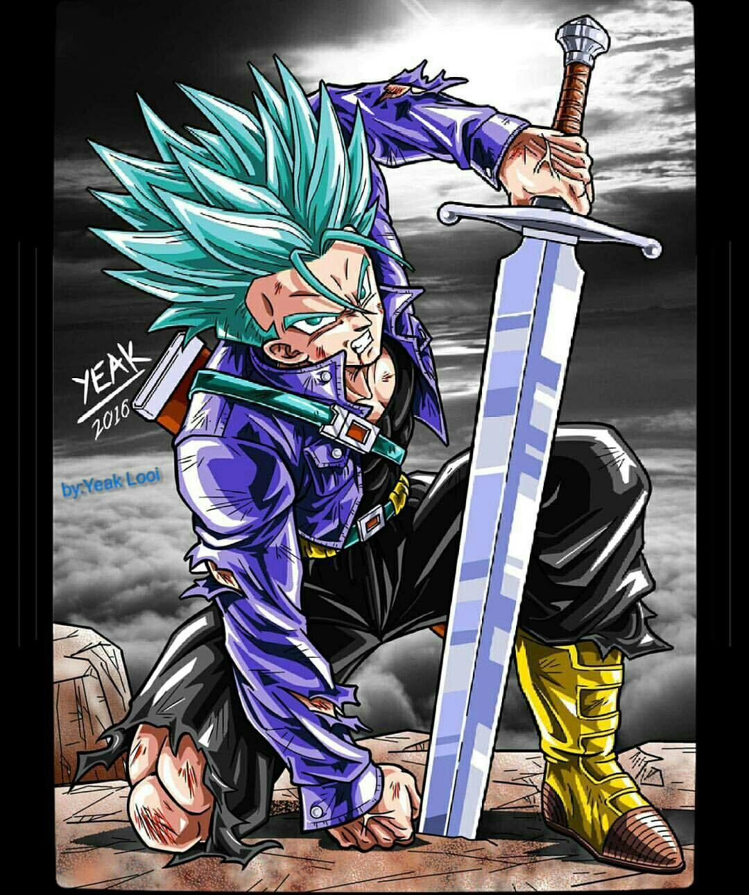 Future Trunks Ssgss Anime Dragon Ball Super Dragon Ball Super Manga Dragon Ball