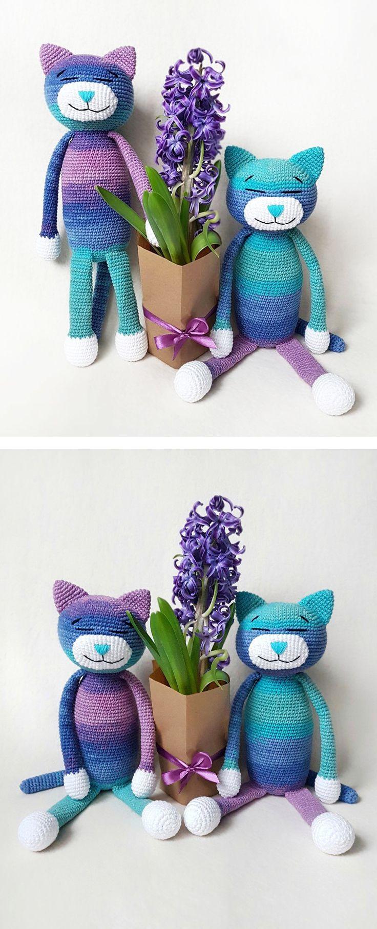 Large Ami Cat crochet pattern | Amigurumi häkeln, Amigurumi und ...