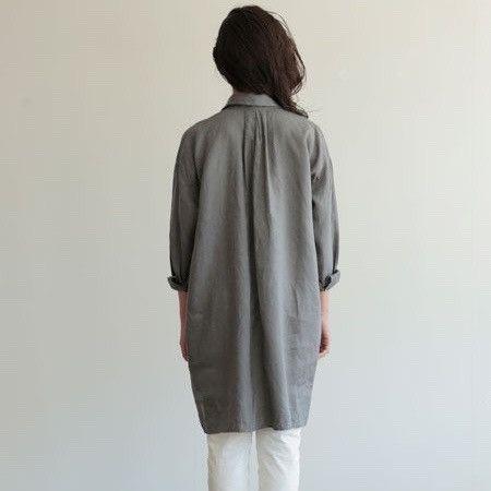Selma Long Shirt: Acier