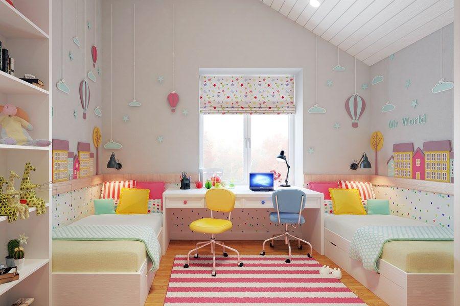 Tende Per Camere Da Letto Per Ragazze : Tende per la camera dei bambini giocare in mansarda camera