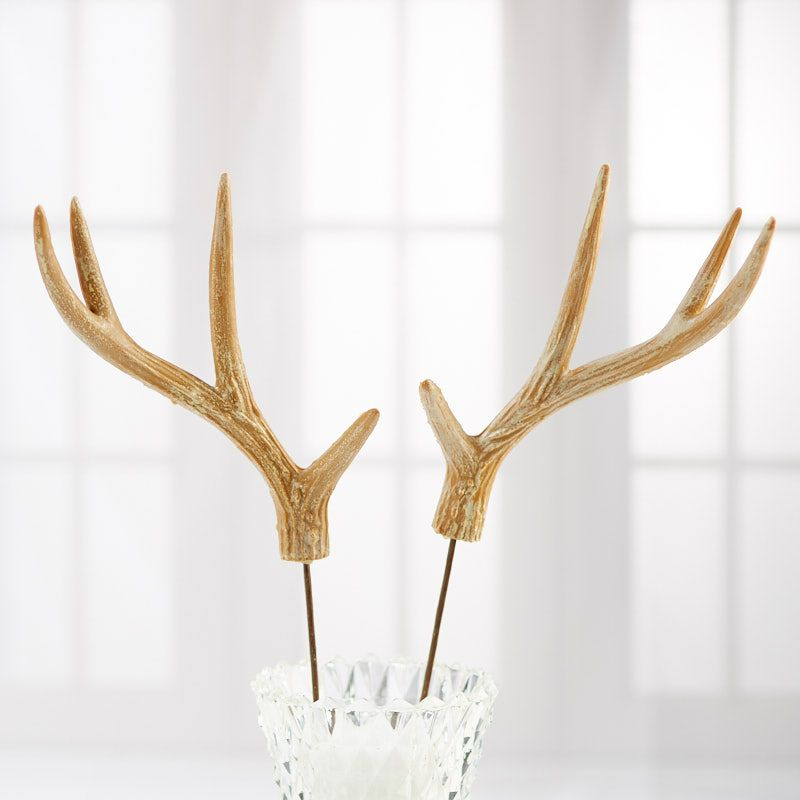 Faux Natural Deer Antler Pick Picks And Stems Floral Supplies