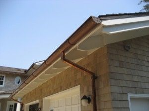 Is Installing Half Round Gutters A Great Idea Half Round Design Exterior Decoration Ideas Inspiration Copper Gutters House Exterior Gutters