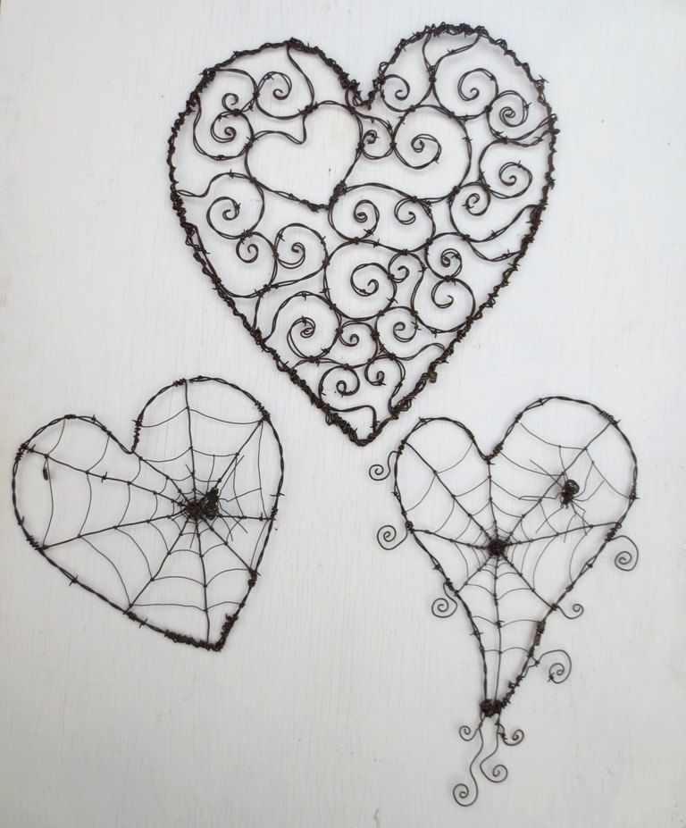 Burly Spirillian Barbed Wire Heart of Spirals For Your Valentine ...