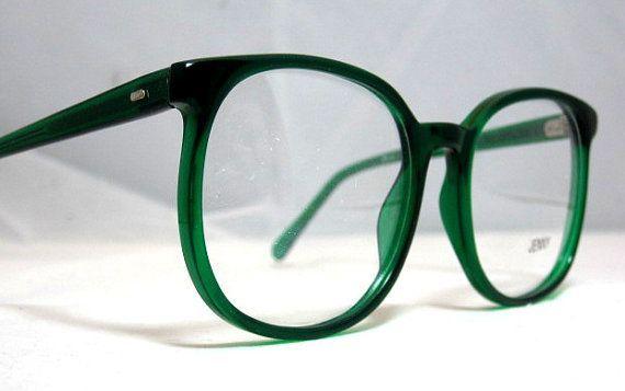 Vintage 80er Jahre Quadratische Ubergrosse Brillengestelle Sie