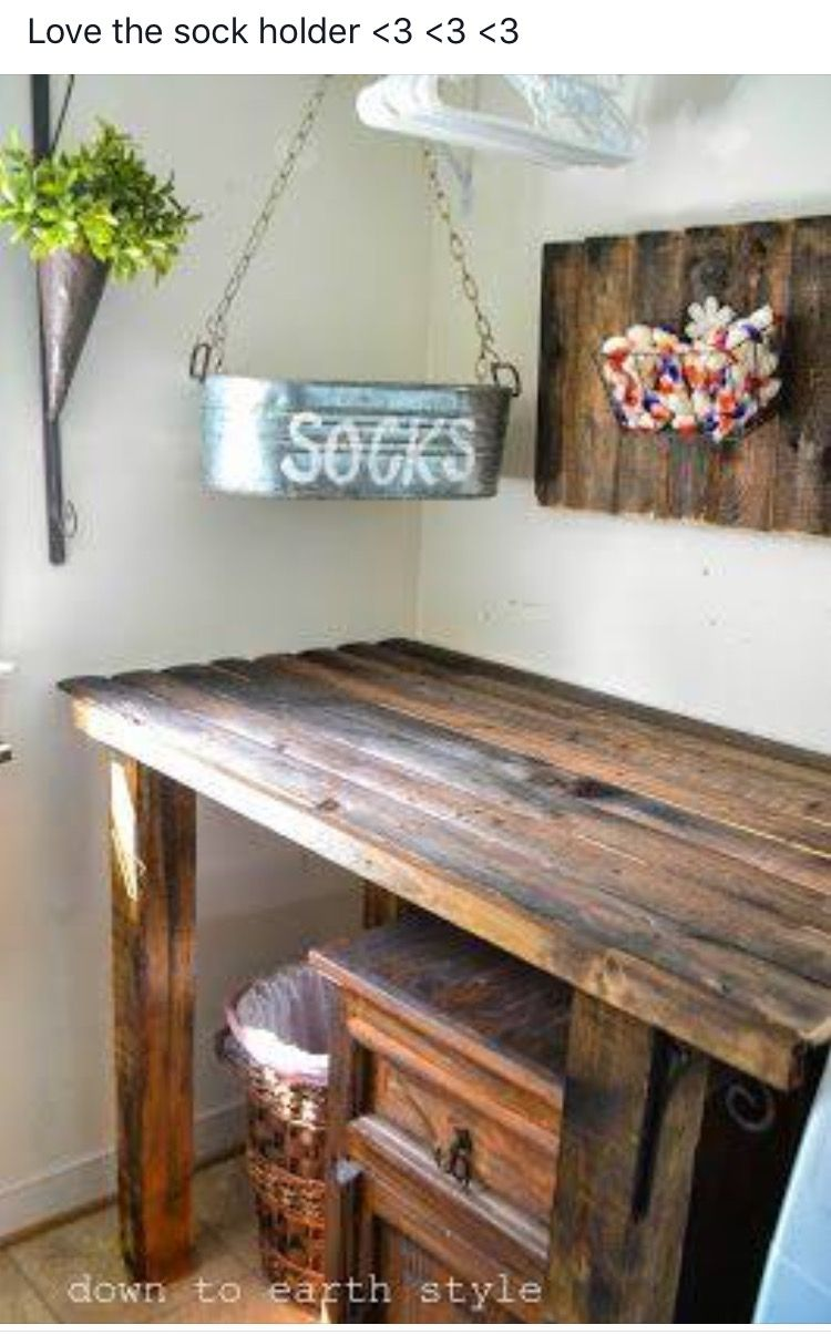 Pin By Nancy Melvin On Crafty Ideas Of This That Laundry Room Folding Table Laundry Room Decor Laundry Room
