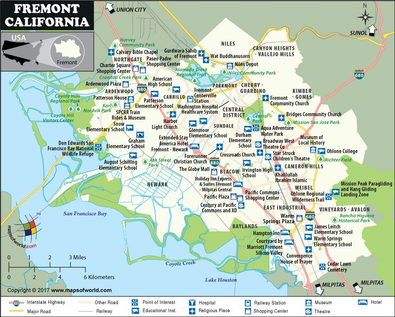 Fremont California Map Fremont City Map, California | city map in 2019 | California map