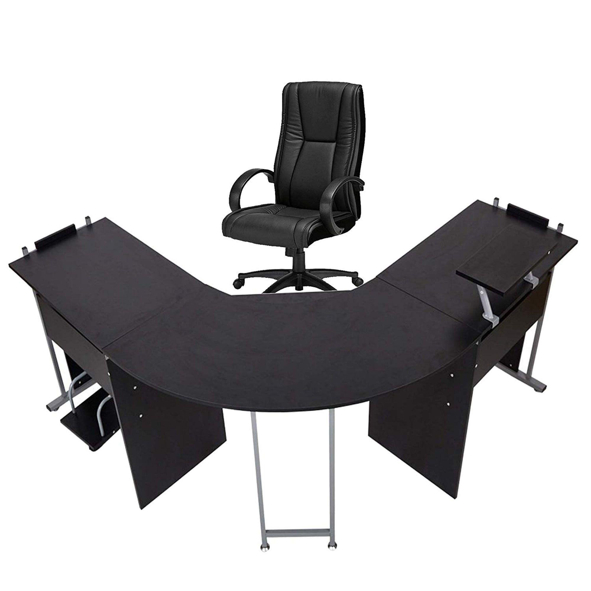 Karmas Product 71 L Shaped Gaming Desk Black Walmart Com Gamingdesk Free 2 Day Shipping Buy Karmas Product 71 L Shaped Gaming Desk Black At Walmart Com