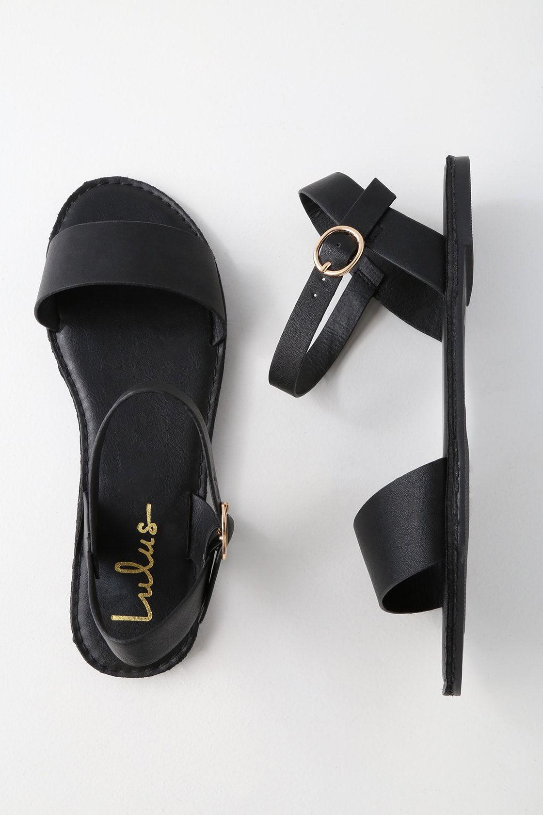 Hearts And Hashtags Black Flat Sandals Black Sandals Flat Black Sandals Dressy Womens Sandals [ 1680 x 1120 Pixel ]