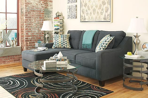 Best Dark Gray Shayla Sofa Chaise View 3 Chaise Sofa Living 400 x 300