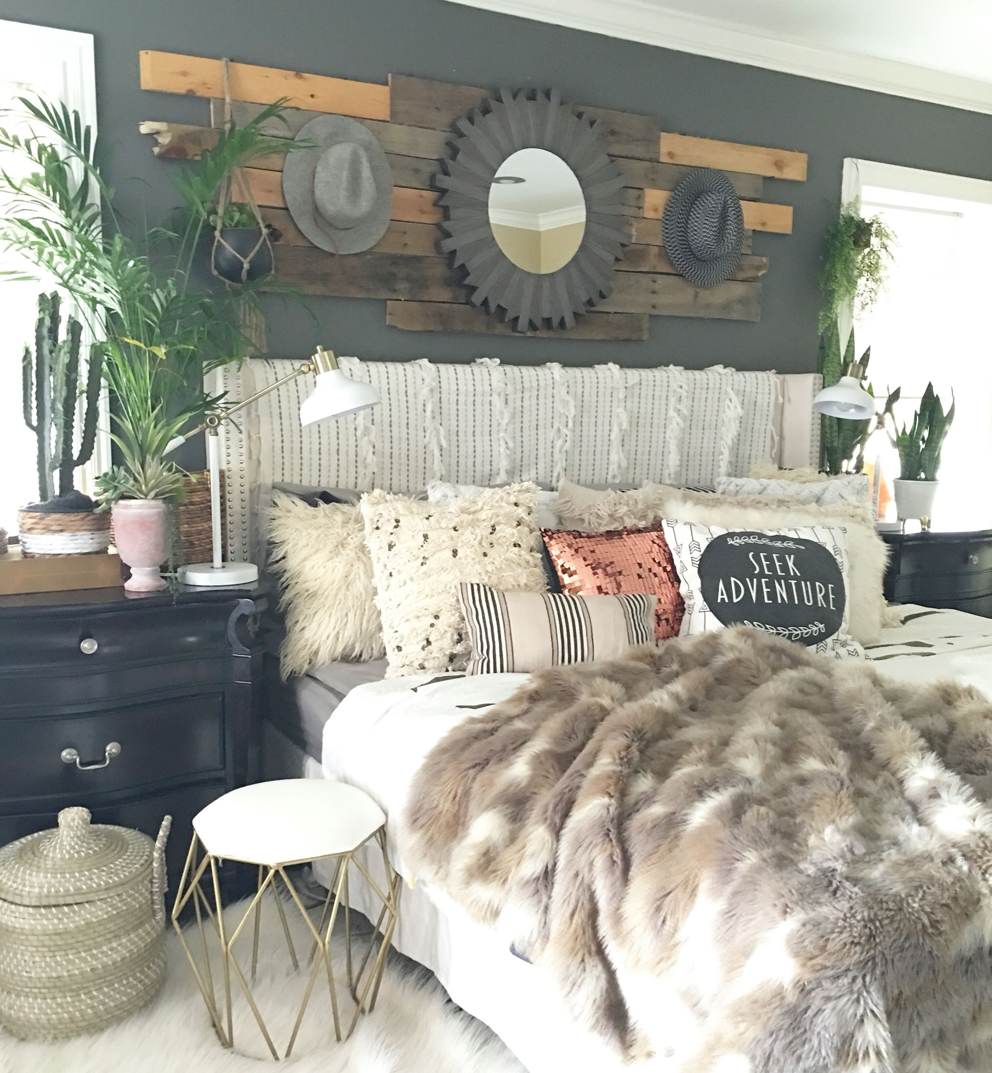 Boho glam rustic bedroom decoración pinterest boho bedrooms