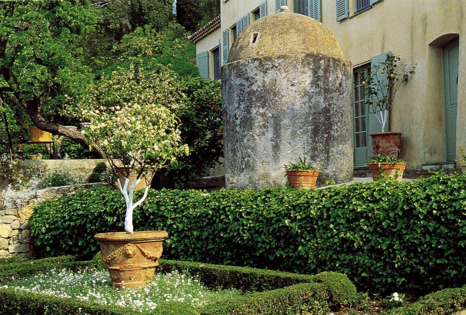 Nice garden trees  Citrus Trees surround an Ancient Tower   GARDEN  COURTYARD