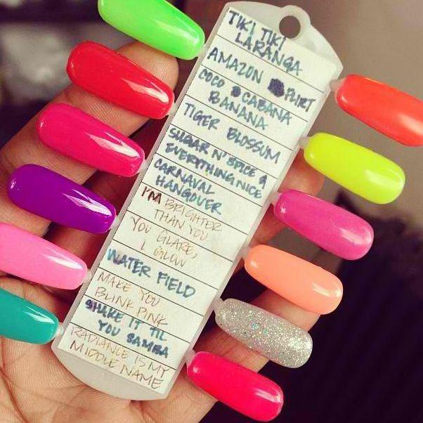 Summer Gelish Way To Display Colors Names Gelish Nail Colours