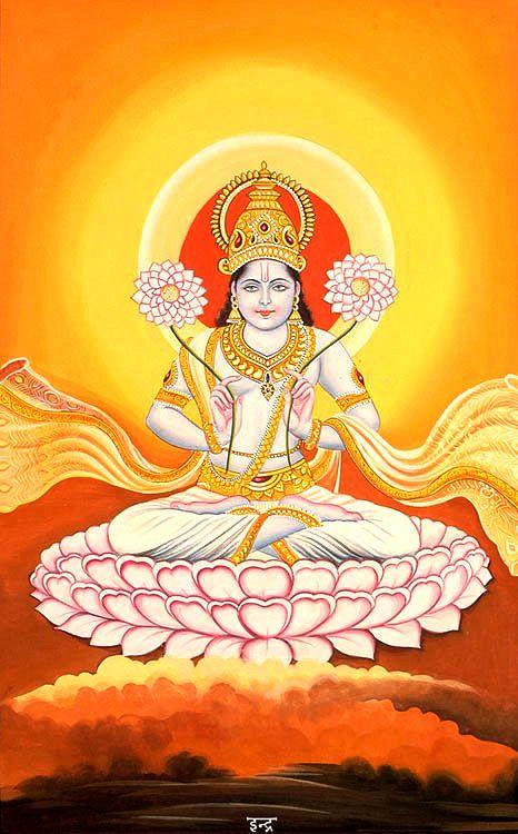 Surya Indra   Surya and 12 Adityas(the god of Sun, heat and light