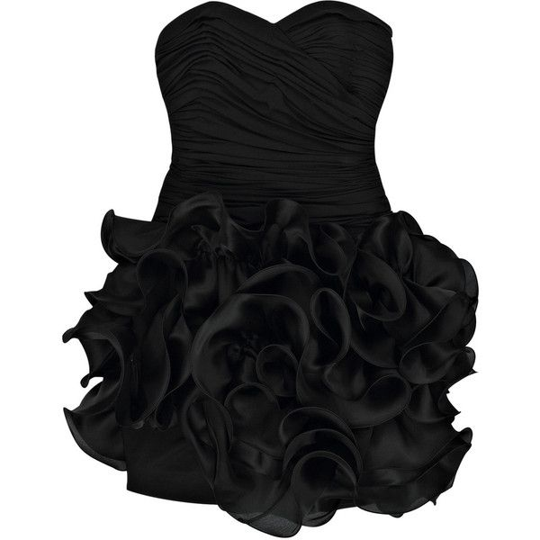 Ruffle silk-blend mini dress ($557) ❤ liked on Polyvore