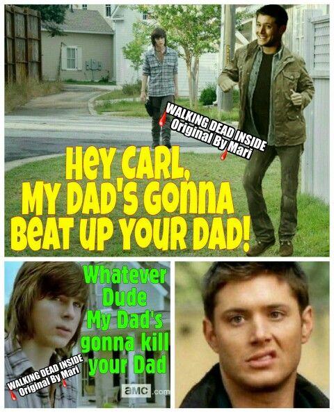 The Walking Dead, Memes, Supernatural, Carl Grimes, Chandler Riggs