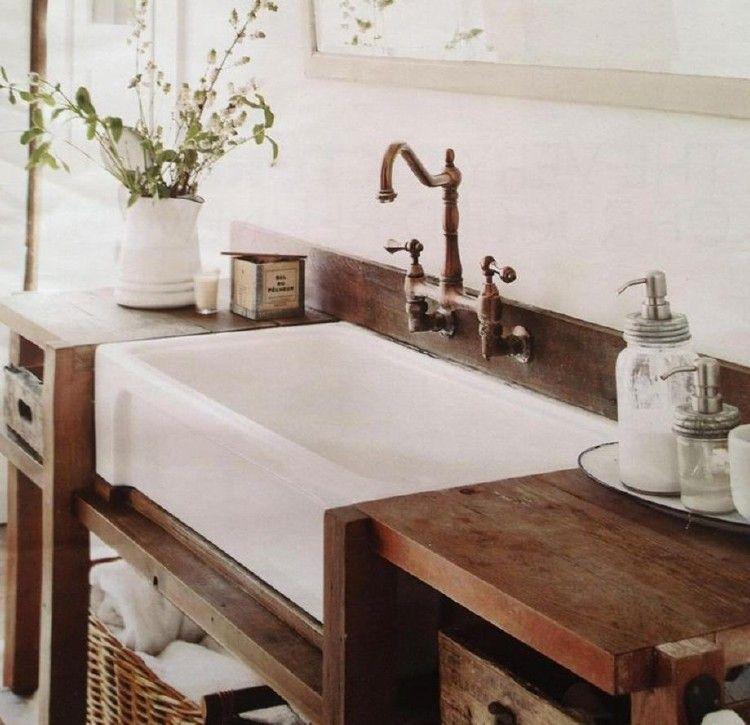 Stunning Farmhouse Style Bathroom Sink