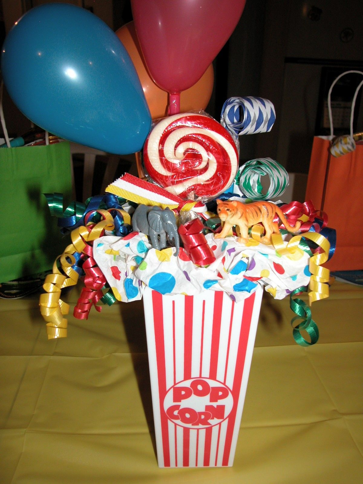 Circus Theme Birthday Souvenirs Circus Party Centerpiecesbirthday