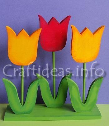 Wooden Tulips Decoration Crafts {Wood} Pinterest Decoration - küchenschranktüren einzeln kaufen