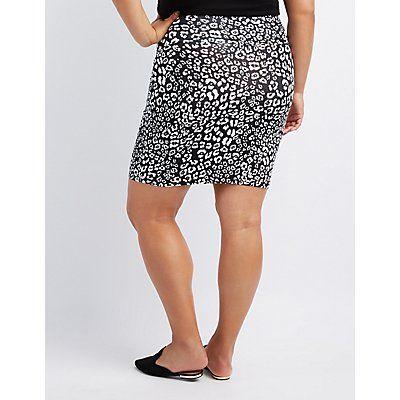 3077b39add4ea Leopard Bodycon Mini Skirt Charlotte Russe