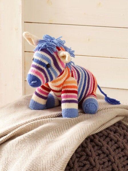 So stricken Sie ein süßes Kuscheltier-Zebra | Stricken & Häkeln ...
