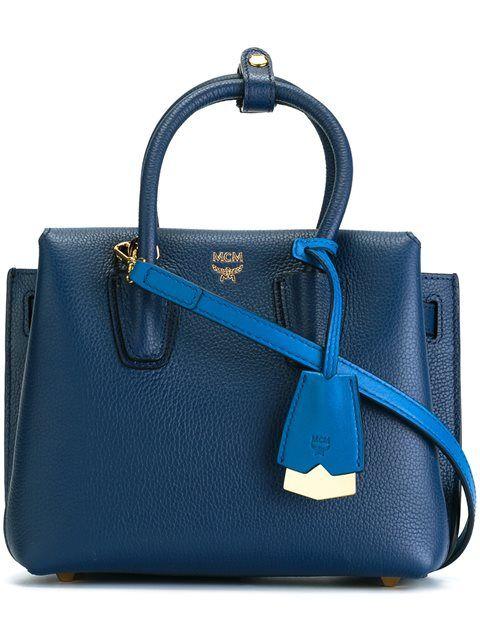 MCM mini 'Milla' tote | Navy tote bags