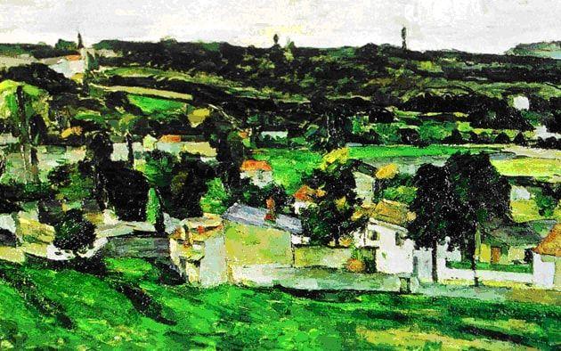 """View of Auvers-sur-Oise"" by Paul Cezanne"