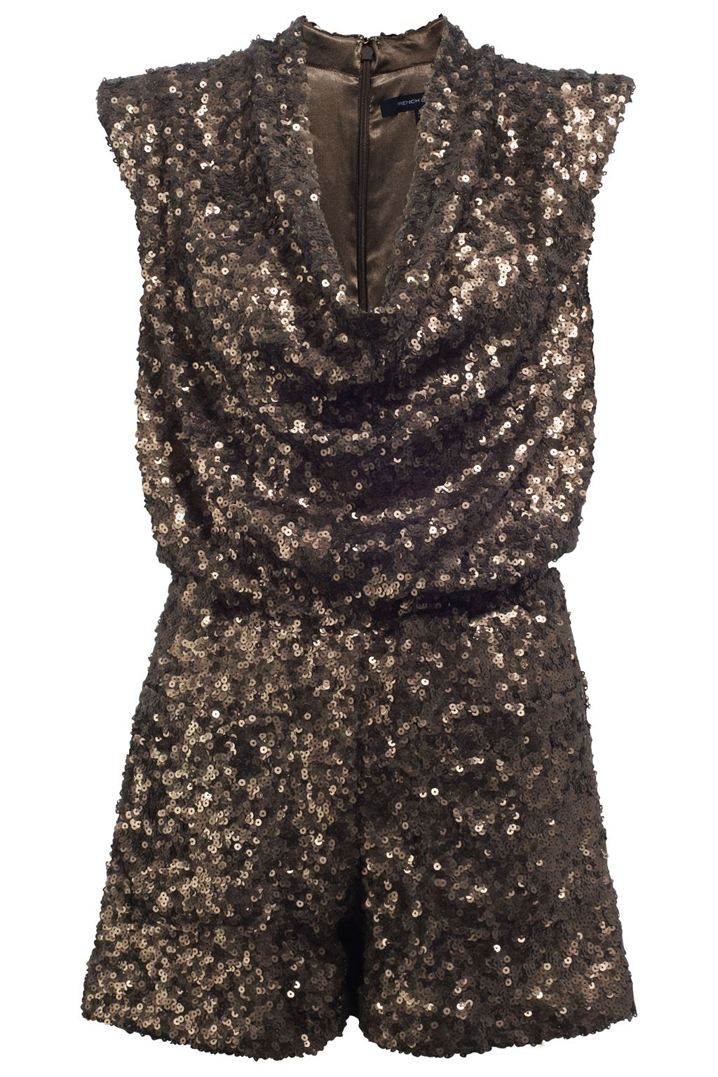 French Connection Sequin Playsuit Now 39 00 Ebay Uk Sequin Playsuit Black Playsuit Glitter Playsuit