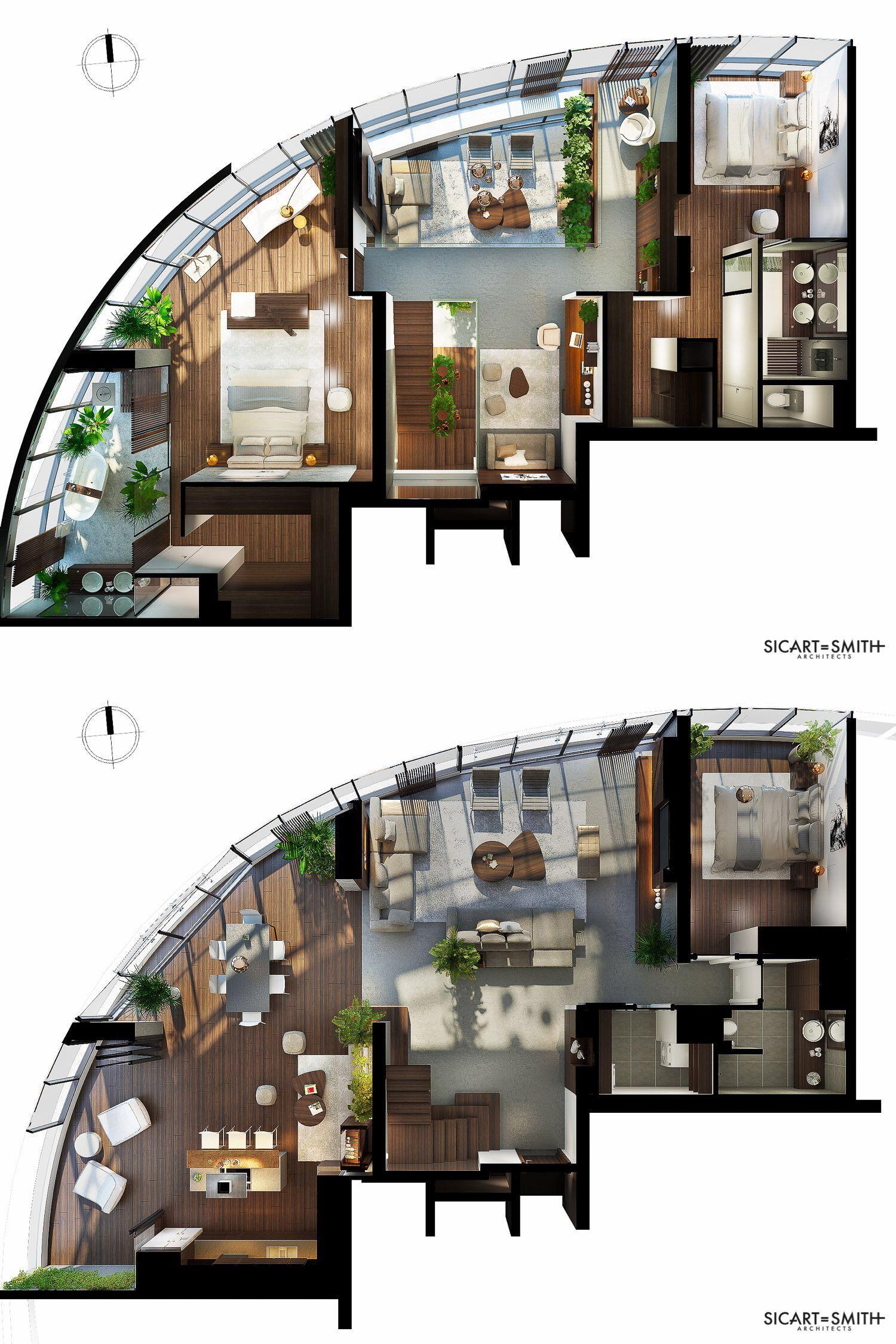 City Garden Ho Chi Minh City Duplex Penthouse House Floor Design Home Building Design Sims House Design