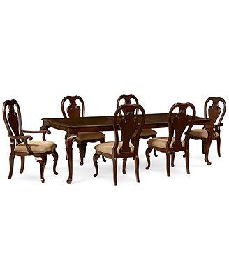 Delmont 7 Piece Dining Room Furniture Set