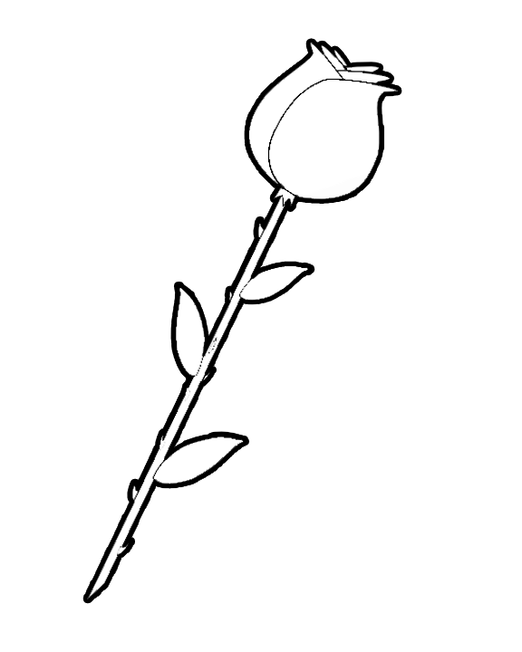 printable roses to color click on image to open up coloring page in a new - Rose Coloring Pages
