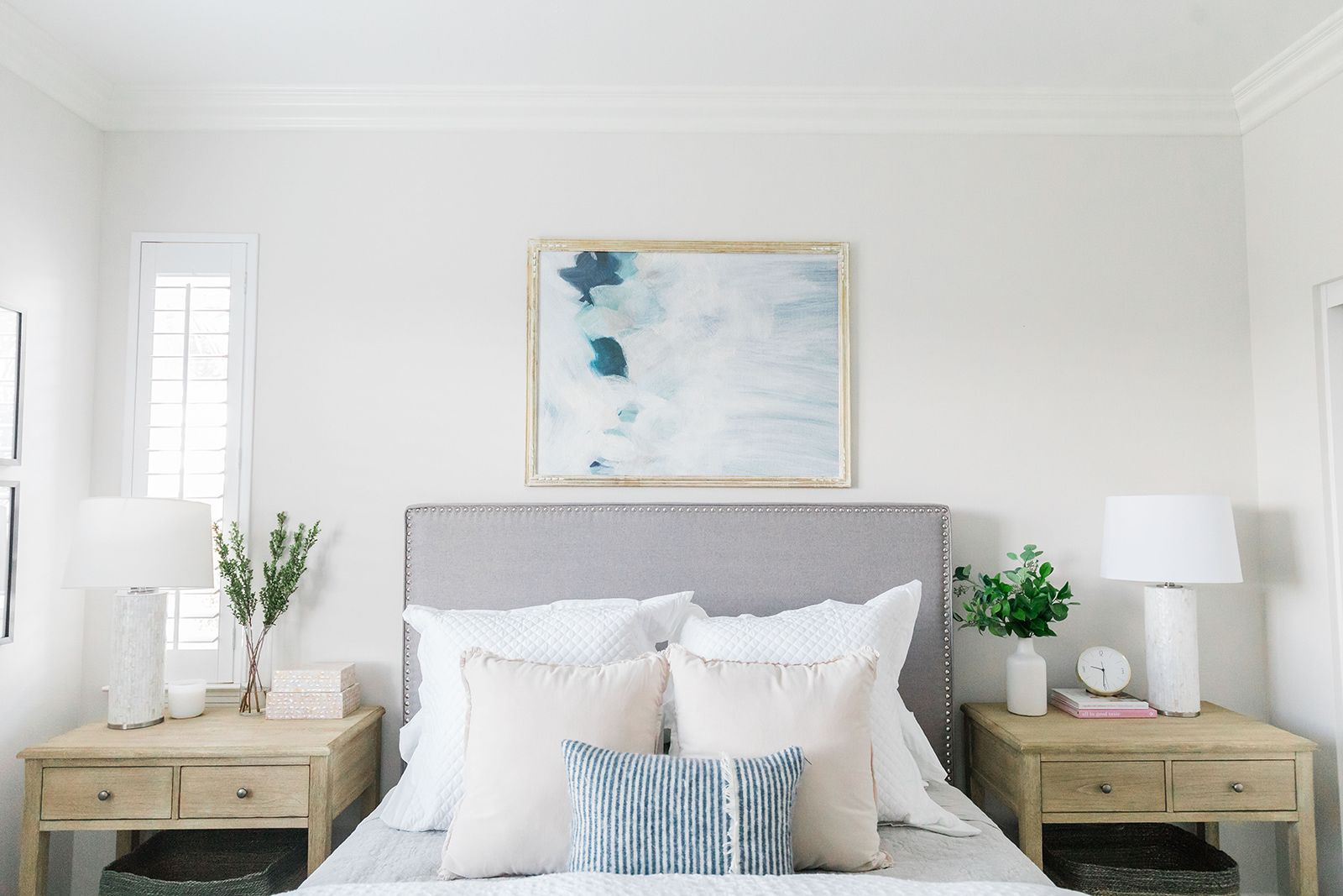 Light and bright bedroom design by laura design co