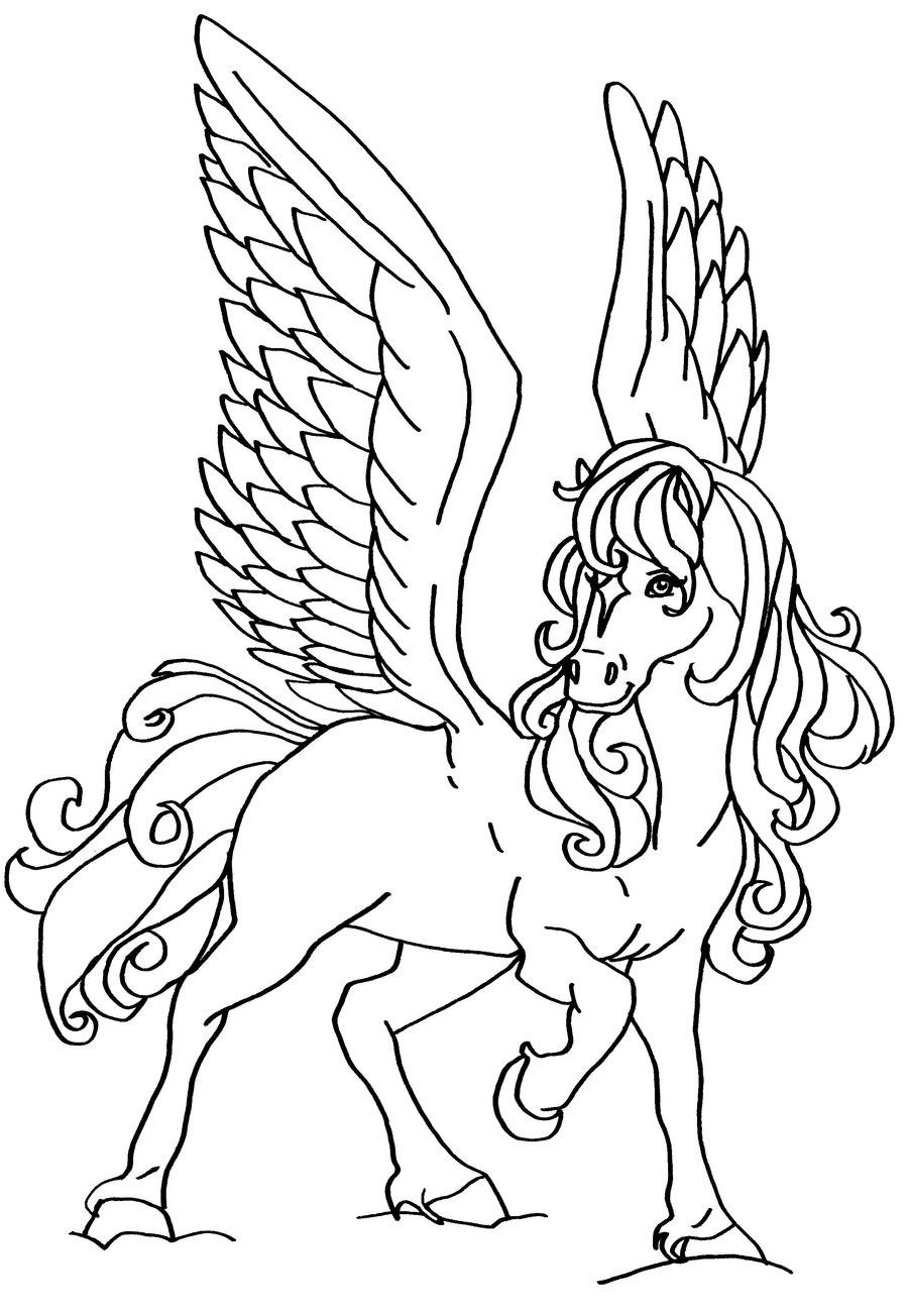 Flying Horse Coloring Page Youngandtae Com Animal Coloring Pages Horse Coloring Pages Animal Coloring Books