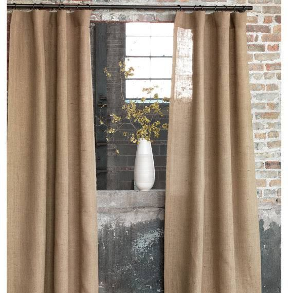 Hessian Curtains Google Search Maison Burlap
