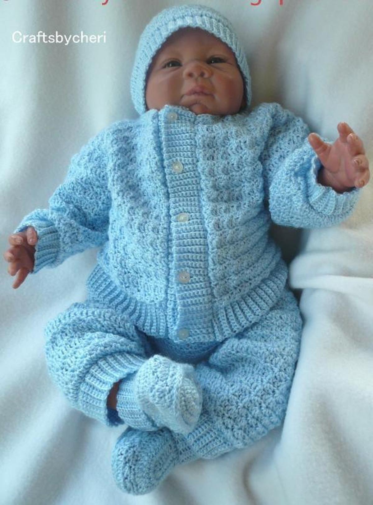 Cheri\'s Crochet Baby Sweater leggings   Bebé