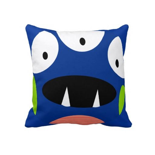 kids room funny cartoon alien monster pillow